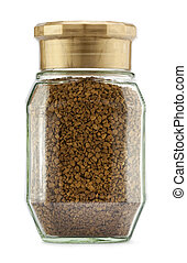 Coffee jar on a white background