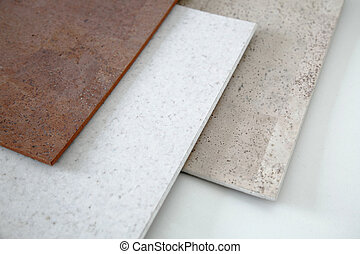 Cork flooring - Different colored cork tiles, mainly in...