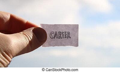career idea, tag with inscription - career idea, tag with...