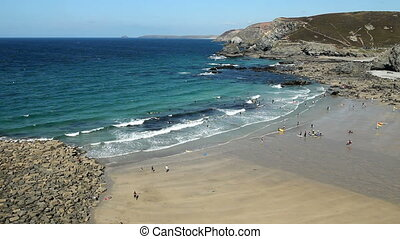 Trevaunance Cove beach St Agnes - Trevaunance Cove beach...