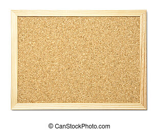 message board - Blank cork message board with wooden frame