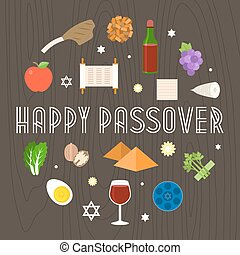Happy passover illustration with icon and element such as...
