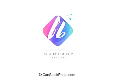 fb f b pink blue rhombus abstract hand written company...