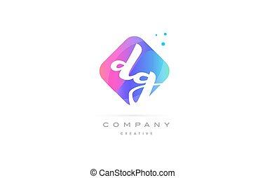dg d g pink blue rhombus abstract hand written company...