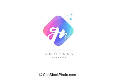 gn g n pink blue rhombus abstract hand written company...