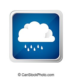 color square frame and blue background with cloud with...