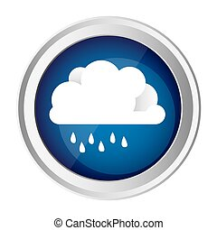 color circular frame and blue background with cloud with...