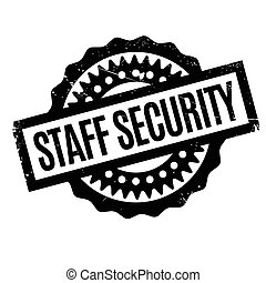 Staff Security rubber stamp. Grunge design with dust...
