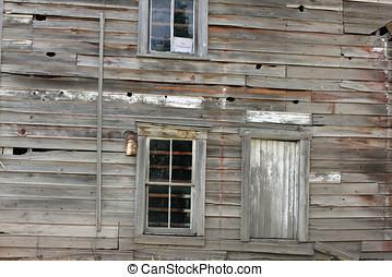 costruzione, Paese, abbandonato, alterato