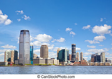 New Jersey skyline over Hudson River, United States