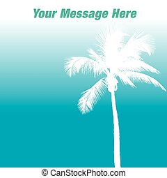 A tropical background page template