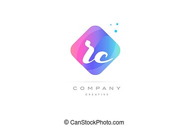 rc r c pink blue rhombus abstract hand written company...