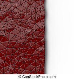 Abstract background of triangle polygons background. Red. 3D...