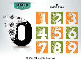 Set of logo number vector design
