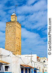 Tower in Kasbah of the Udayas - Rabat, Morocco - Tower in...