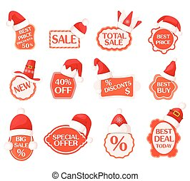 Sale and Discounts Labels with Percents Collection - Sale...