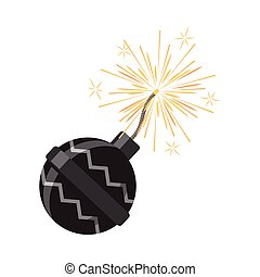 Set of Fireworks. Pyrotechnic Devices for Festival