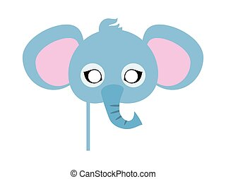 Elephant Carnival Mask. Big Animal with Large Ears