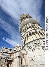 propensión, torre, Pisa