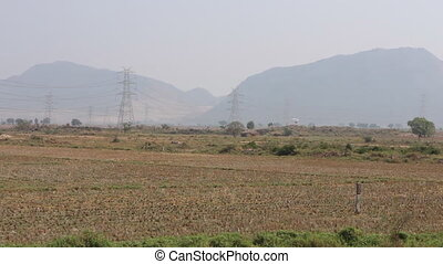 Agricultural land in India.