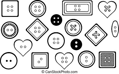 Set of different buttons