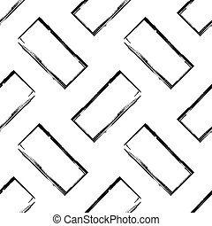 Abstract bw seamless pattern - Abstract black and white...