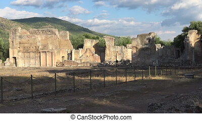 Imperial palace ruins, archeological site of Hadrian's Villa...
