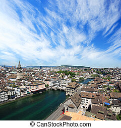 Zurich Switzerland - Cityscape of Zurich, Switzerland. Taken...
