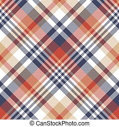Check classic tartan seamless pattern. Vector illustration.