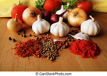 Herbs and spices assortment