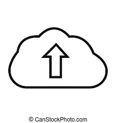 upload - simple thin line upload icon vector