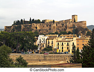 Templar Castle - Middle aged templar castle in Catalonia,...