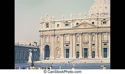 Rome San Pietro square - San Pietro square and Saint Peter...