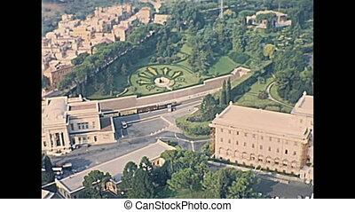 Vatican Governor's Palace - aerial view of Vatican...