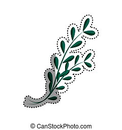 Plant branch isolated