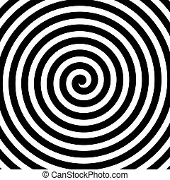 Vector spiral background in black and white. Hypnosis theme....