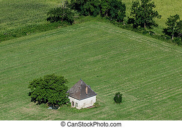 small house in field