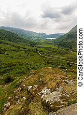 The Nant Gwynant Pass, mountain valley in Wales - Nant...