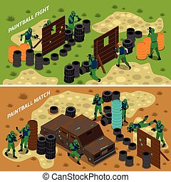 Paintball Isometric Banners - Paintball isometric banners...