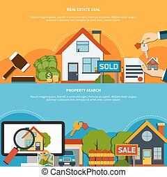 Real Estate Banners - Real estate deal and property search...