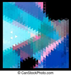 Abstract vector polygons background - Abstract vector...