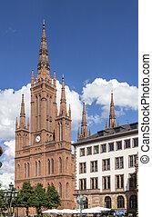 Marktkirche in Wiesbaden - famous Marktkirche in Wiesbaden...