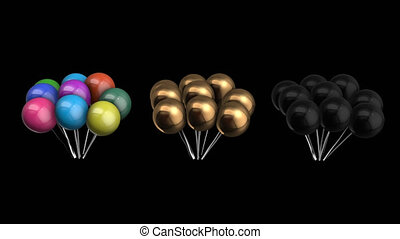 Animation bundle of balloons with alpha channel 4K