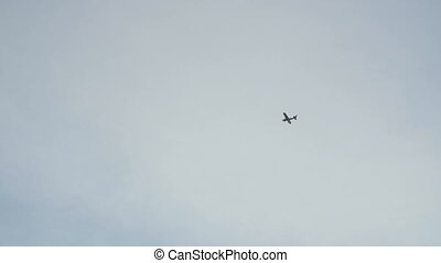 Small airplane is flying.