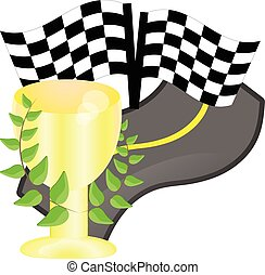 cup for a victory in the race