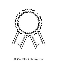 Ribbon award empty