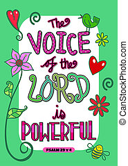 Bible Scripture Art Poster - The voice of the Lord is...