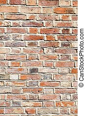 Lime mortar brick wall background