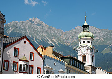 Innsbruck in Austria - Glimpse of Innsbruck the capital town...