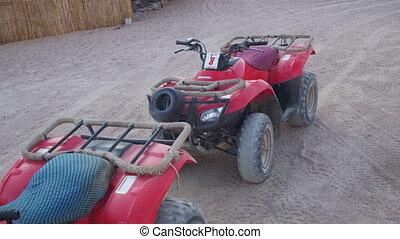 Tourist Quads Bike for a Safari Excursion in the Desert of...